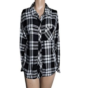 Rails hunter ebony / White Flannel size S